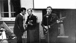 """Юрий Ермаков (в центре) на джеме с гр. """"Аргонавты"""". Фото 1966."""