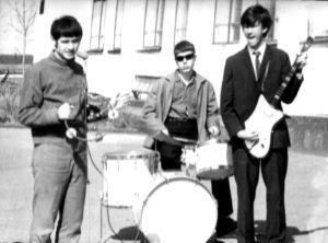 """группа """"Фобос"""", 1967 год, слева направо: Сергей Попов, Александр Неганов, Иштван Ланг."""