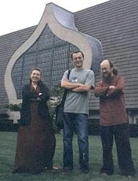 Сергей Летов, Лев Транхтенберг (смеется, еще не знает, что ему готовит ФБР и их приятельница А.Г. в Нью-Джерси, 2000)