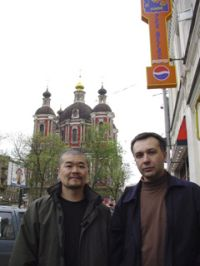 Алексей Борисов и KK Null (японский электронщик, гитарист и нойзер)