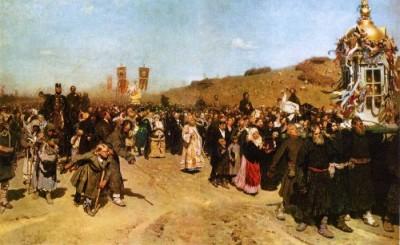 Илья Репин – «Крестный ход в Курской губернии». 1880 - 1883 гг.
