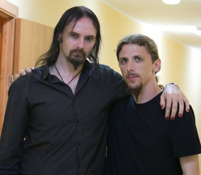 7. with Aaron Stainthorpe (MY DYING BRIDE)
