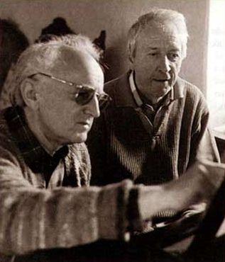 Ларс Эдлунд (на фото с поэтом Томасом Транстрёмером)