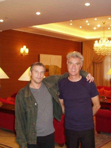 Пётр Трощенков и Дэвид Бирн