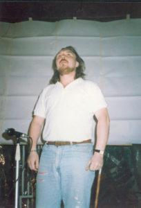 Юрий Царёв на Первом Весеннем Конгрессе Футуристов. Москва, 1989